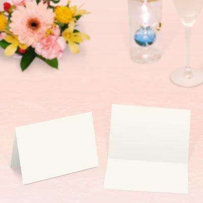 画像1: 席札 2つ折りミニサイズ(薄口・白無地)