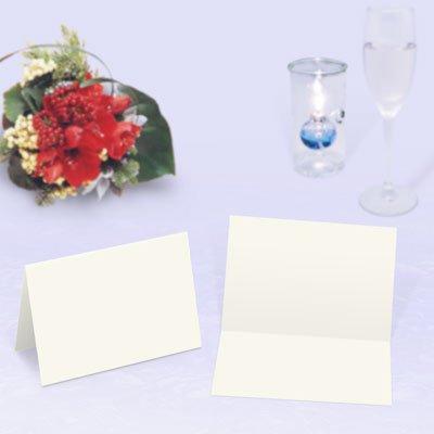 画像1: 席札 2つ折りタイプ(薄口・白無地)