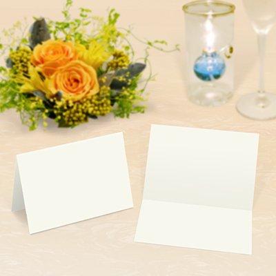 画像1: 席札 2つ折りミニサイズ(中厚口・白無地)