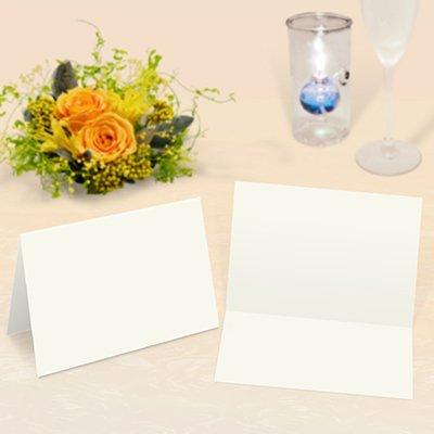 画像1: 席札 2つ折りタイプ(中厚口・白無地)